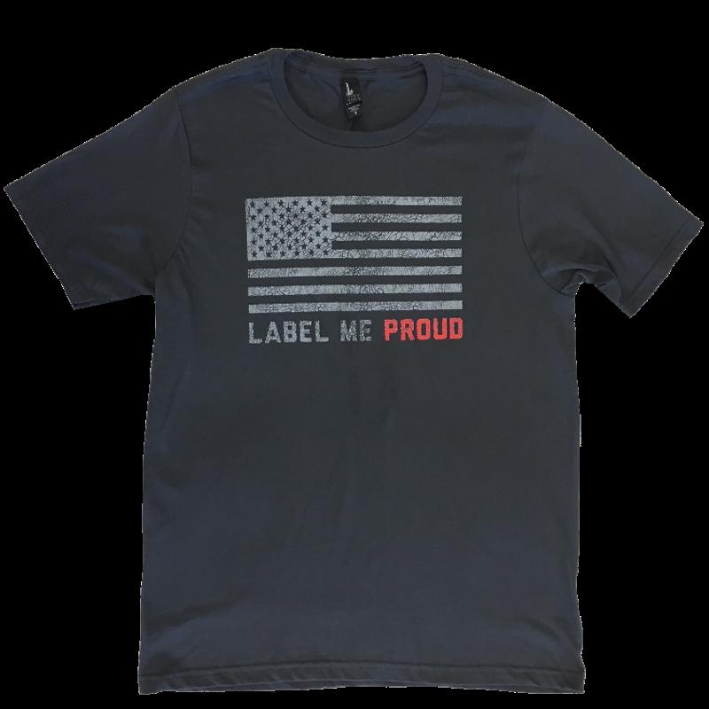 Lee Brice Charcoal Label Me Proud Tee