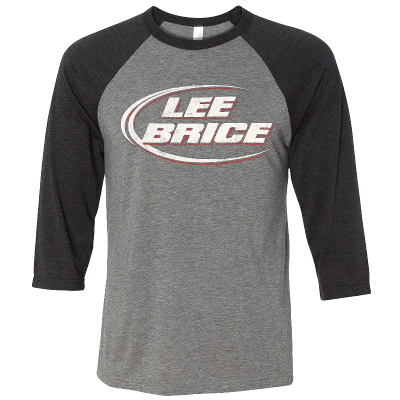 Lee Brice Grey and Black Raglan Tee