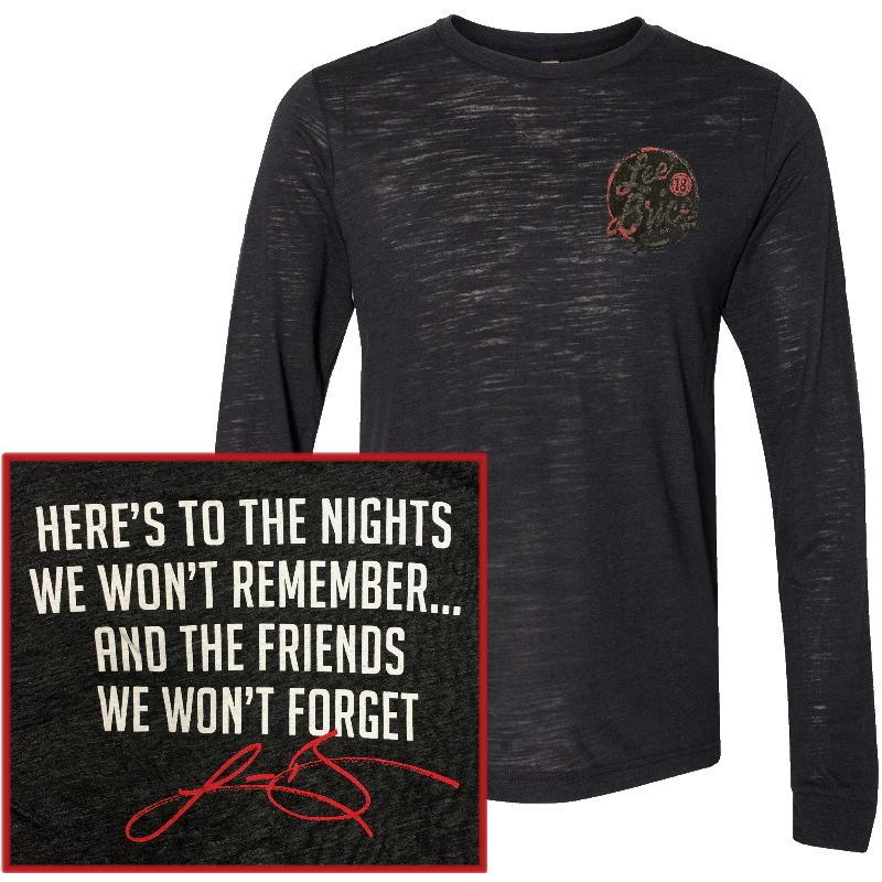 Lee Brice Long Sleeve Black Tee