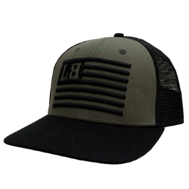 Lee Brice Mitlitary Green and Black Ballcap