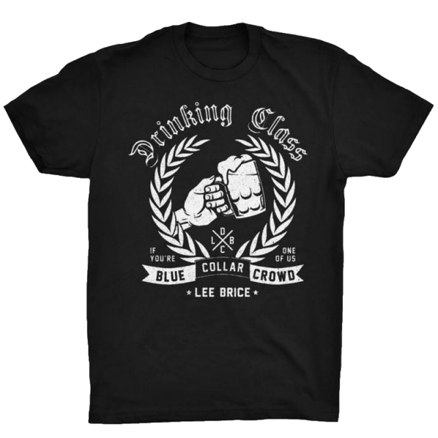 Lee Brice Black Tee- Drinking Class