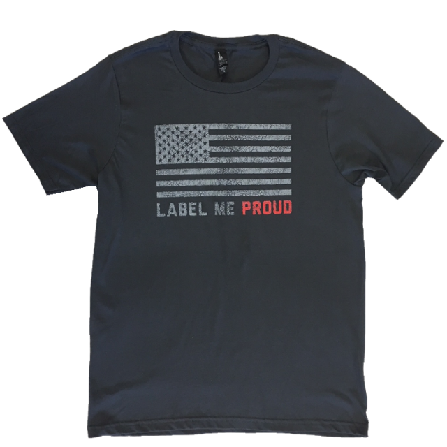 Lee Brice Charcoal Label Me Proud Tee
