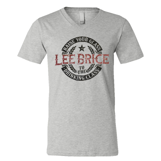 Lee Brice Grey V Neck Tee