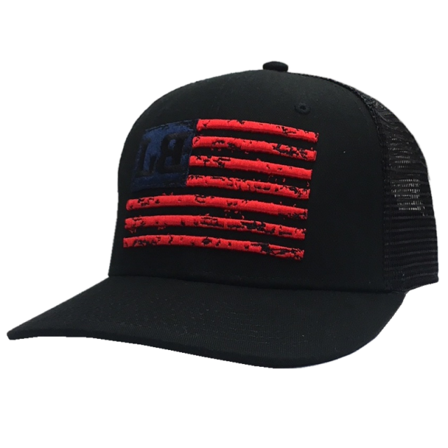 Lee Brice Black Ballcap w/ Flag Design