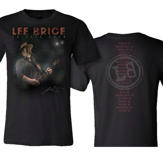 Lee Brice Live tee
