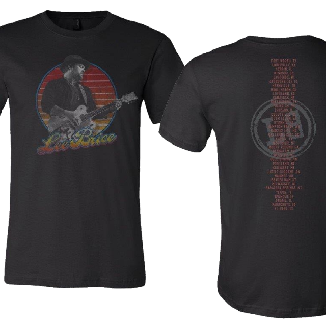 Lee Brice Black Retro Tour Tee