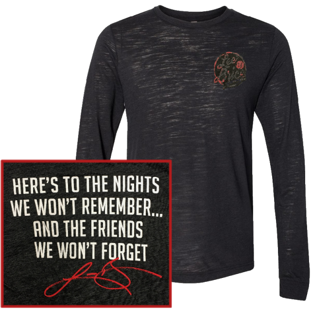 Lee Brice Long Sleeve Black Slub Tee